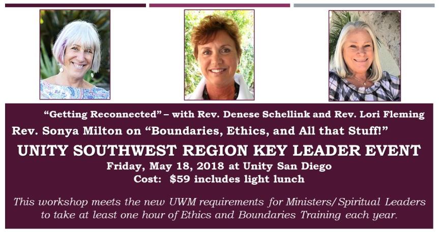 SW Region Meeting -Key Leaders Event