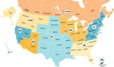 Unity Regions Map